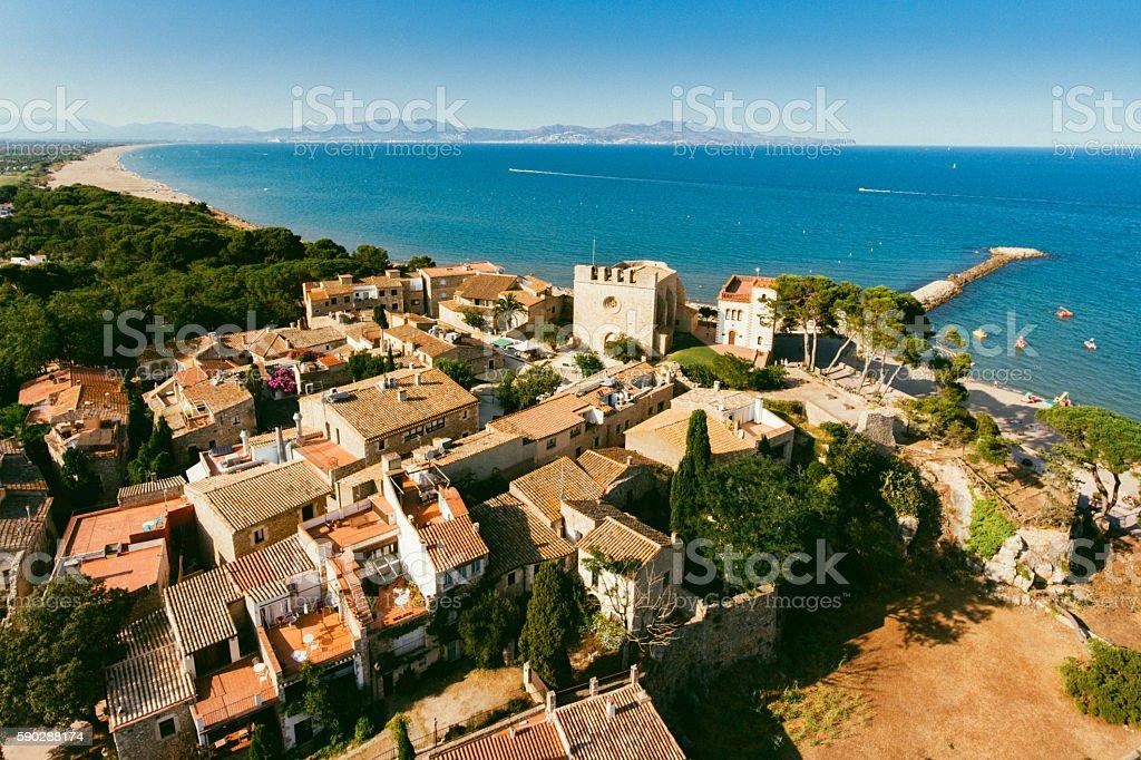 Costa Brava Aerial View stock photo