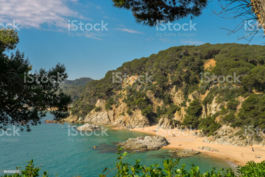 Costa Brava seaview stock photo