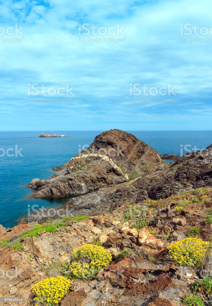 Costa Brava summer view, Spain. royalty-free stock photo