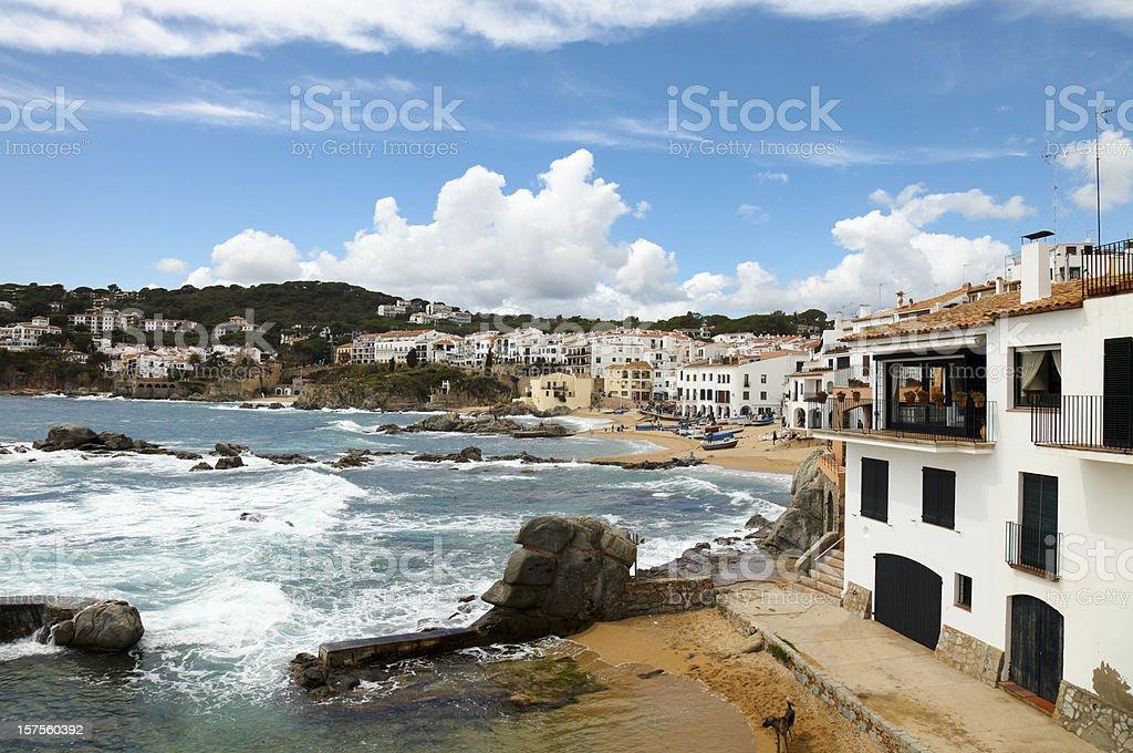 Costa Brava Village and beach royalty-free stock photo