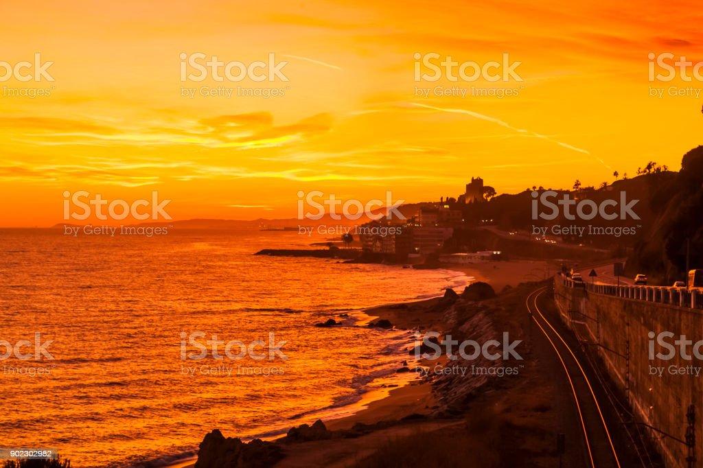 Costa del Maresme stock photo