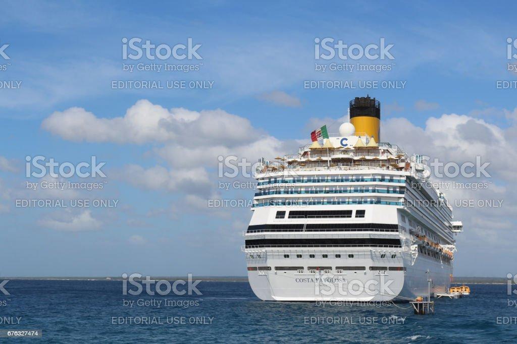Costa Favolosa Cruise at the sea stock photo