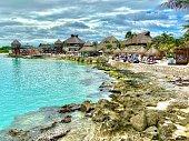 Beachside resort in Costa Maya, Mexico