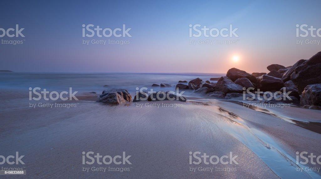Playa de Costa Nova, Aveiro, Portugal - foto de stock