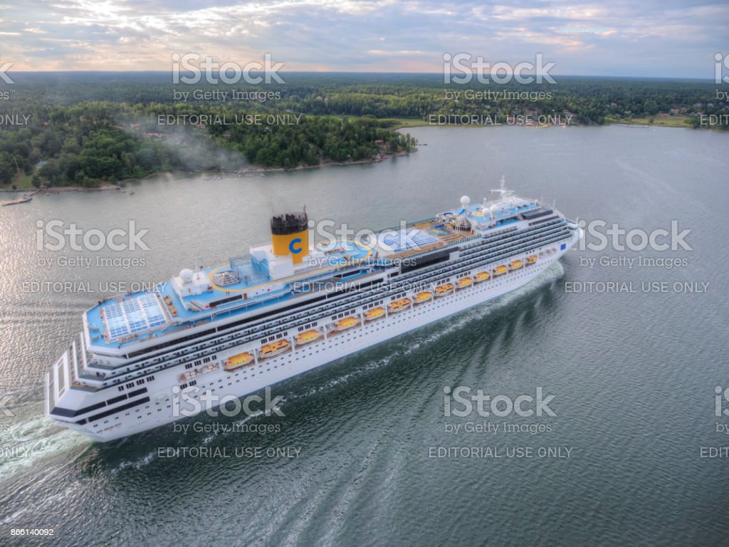Costa Pacifica Cruiser Ship stock photo