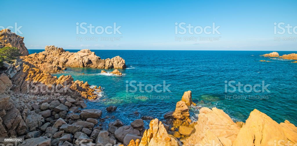 Costa Paradiso colorful shore royalty-free stock photo