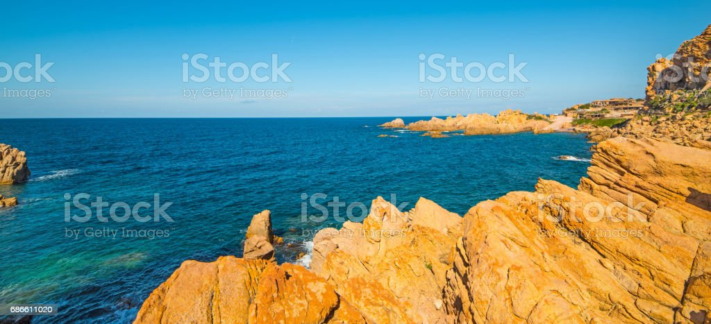 Costa Paradiso on a clear day royalty-free stock photo