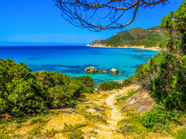 Costa Rei, Sardinia, Italy stock photo