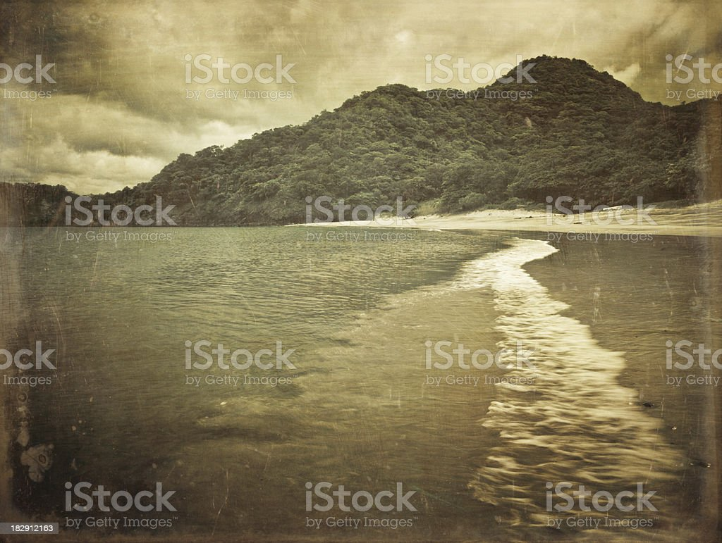 costa rica deserted beach royalty-free stock photo