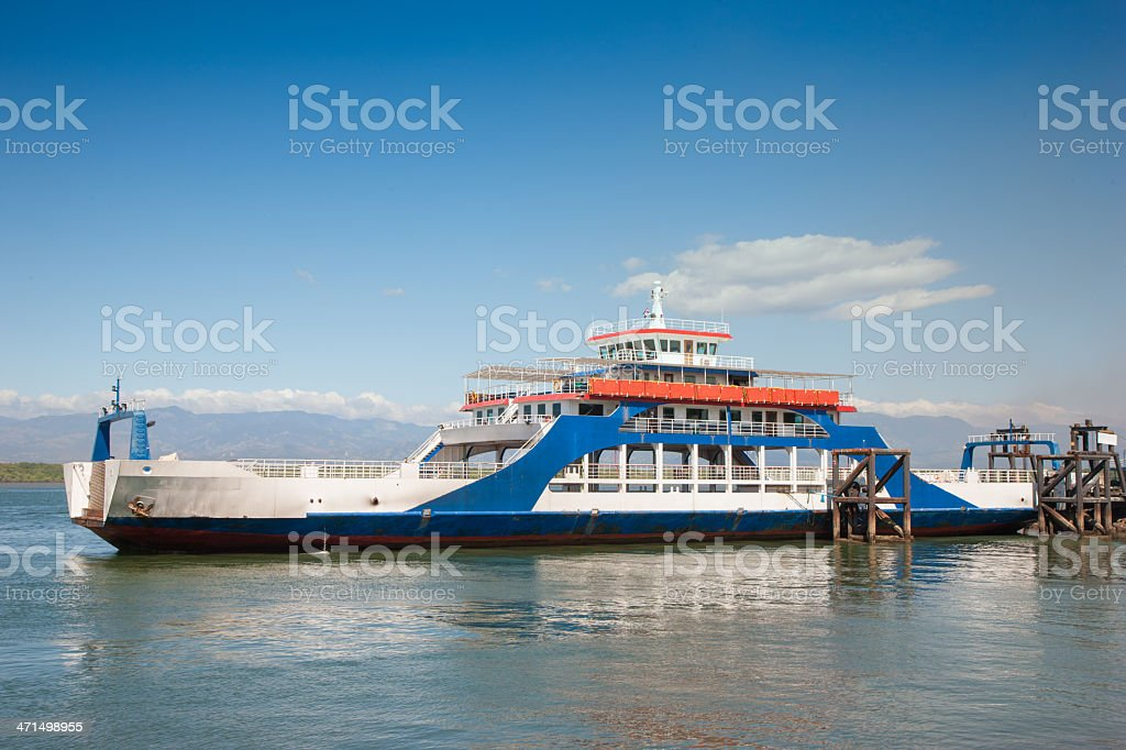 Costa Rica Ferry Puntarenas Tambor royalty-free stock photo