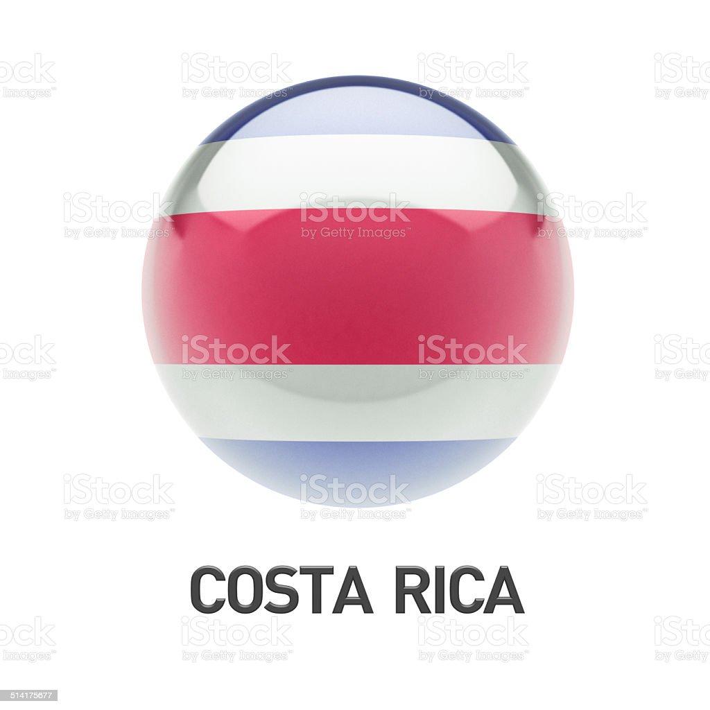 Costa Rica Flag Icon stock photo