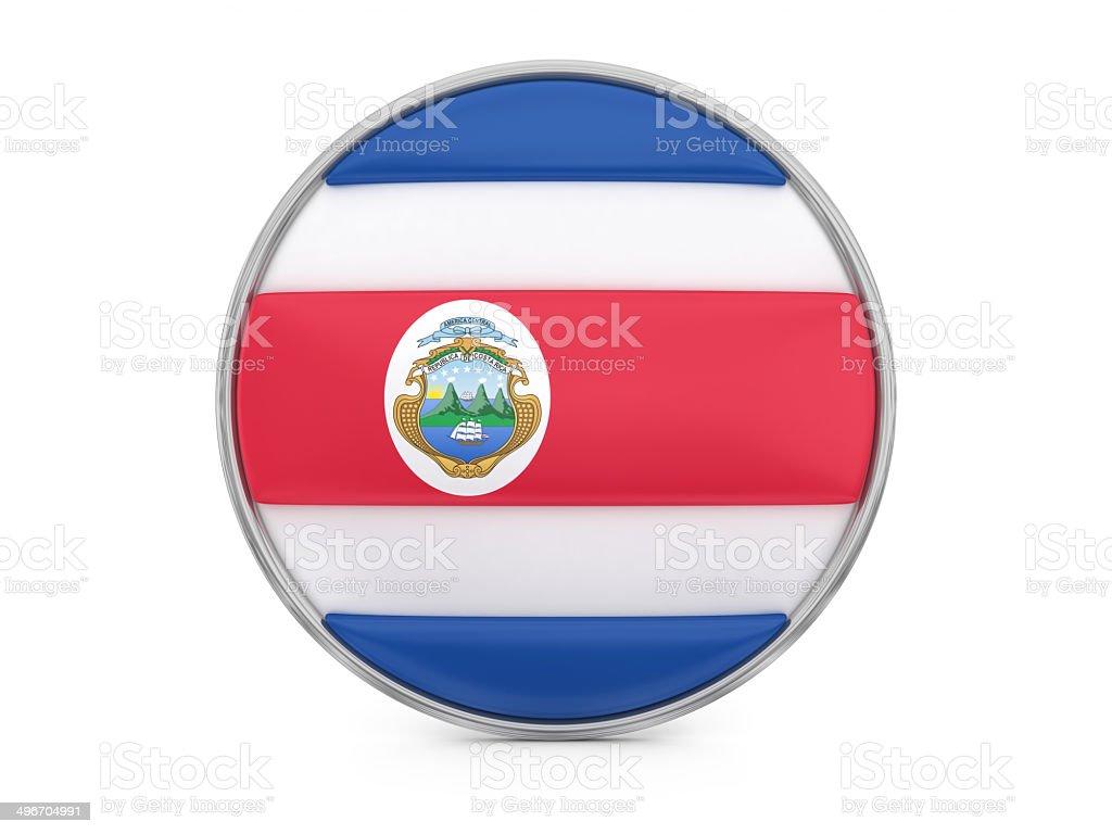 Costa Rica flag royalty-free stock photo