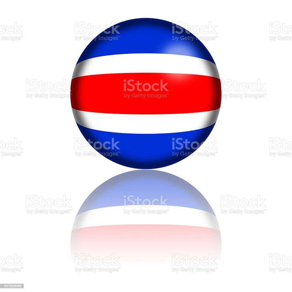 Costa Rica esfera 3D de bandera de imagen - foto de stock