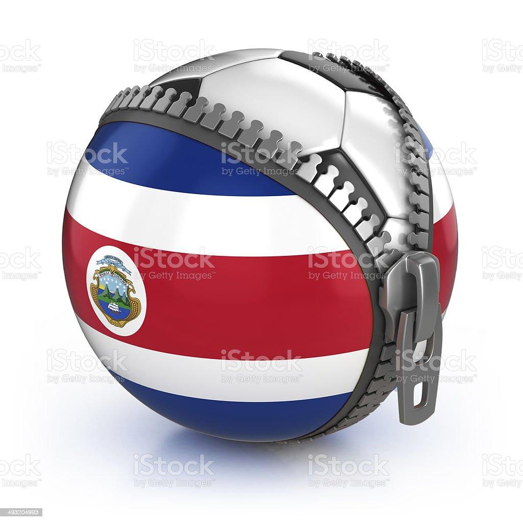 Nación de fútbol de Costa Rica - foto de stock