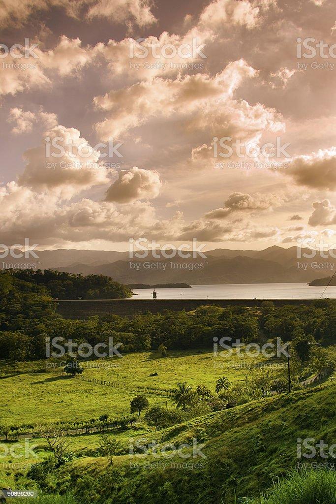 Costa Rica landscape royalty-free stock photo