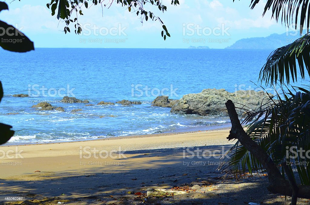 Costa Rica Pacific beach stock photo