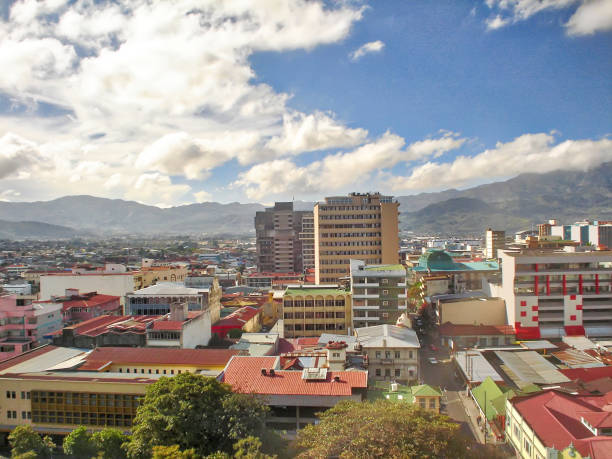 Costa Rica, panoramic view of San Jose city center stock photo