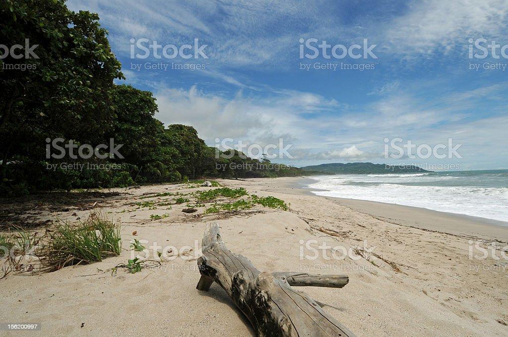 Costa Rica Tropical Beach and Coastline Photo of the coastline and beach in Santa Teresa, Costa Rica. Beach Stock Photo