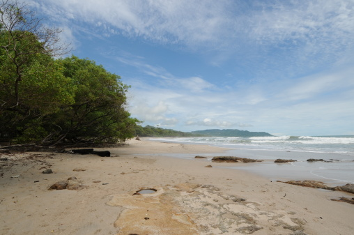 Costa Rica Tropical Beach Ocean And Shoreline Stock Photo - Download Image Now