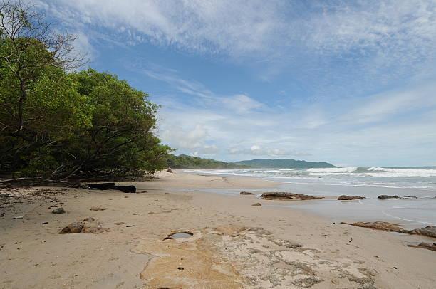 Costa Rica Tropical Beach, Ocean and Shoreline stock photo