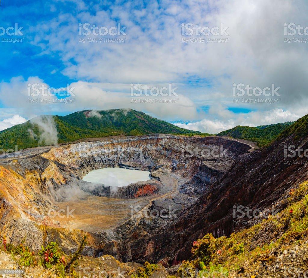 Costa Rica Volcanos stock photo