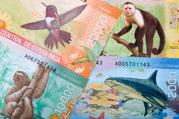 Costa Rica colones, ein geschäftlicher Hintergrund – Foto