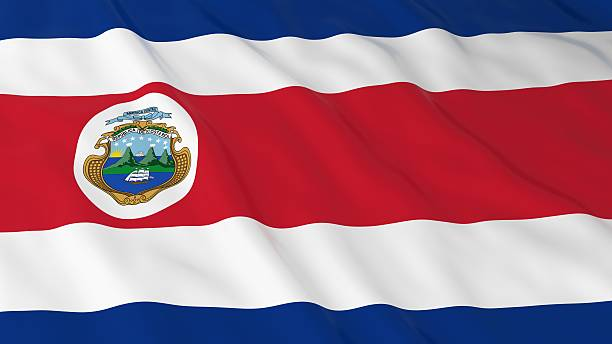 Costa Rican Flag HD Background - Flag of Costa Rica - foto de stock