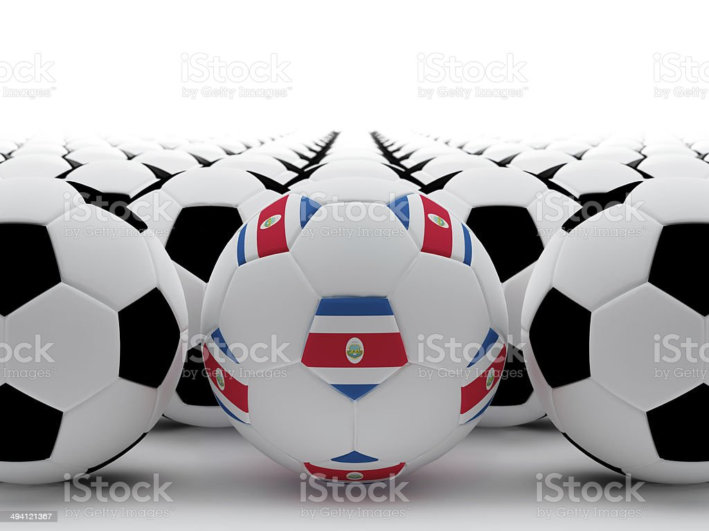 Costa Rican football stock photo
