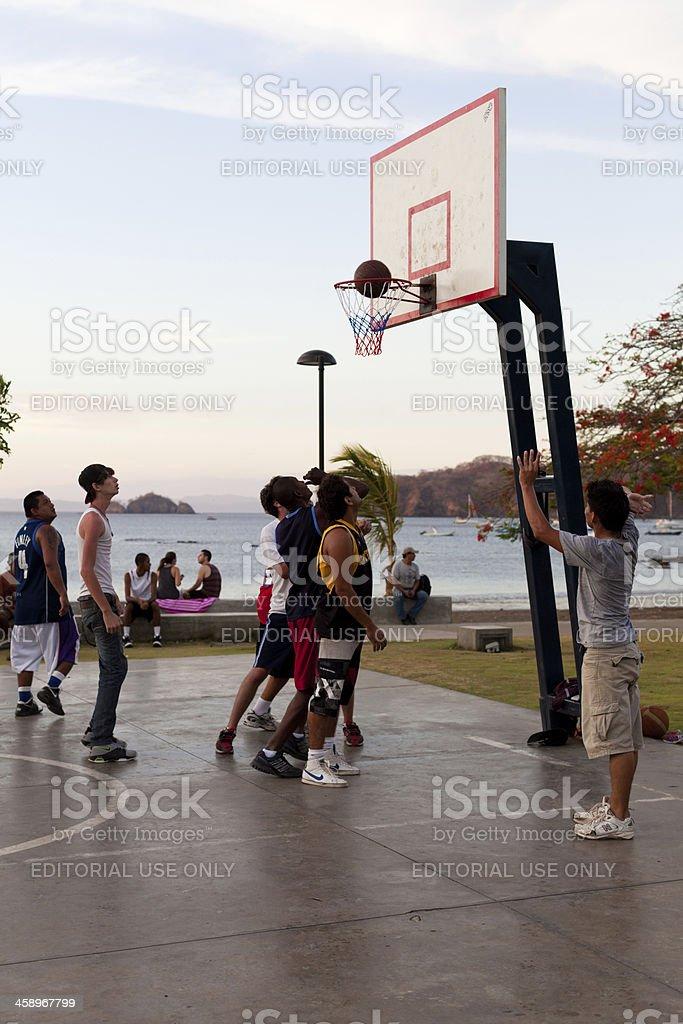 Costa Rican man playing basketball royalty-free stock photo