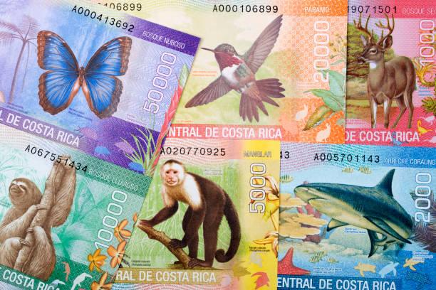 Costa Rica Geld - Colon ein Hintergrund – Foto
