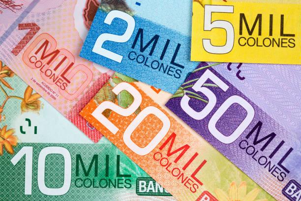 Costa Rica Geld - Kolon ein Hintergrund – Foto