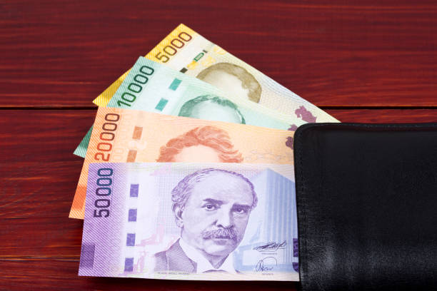 Costa Rica Geld in der schwarzen Brieftasche – Foto