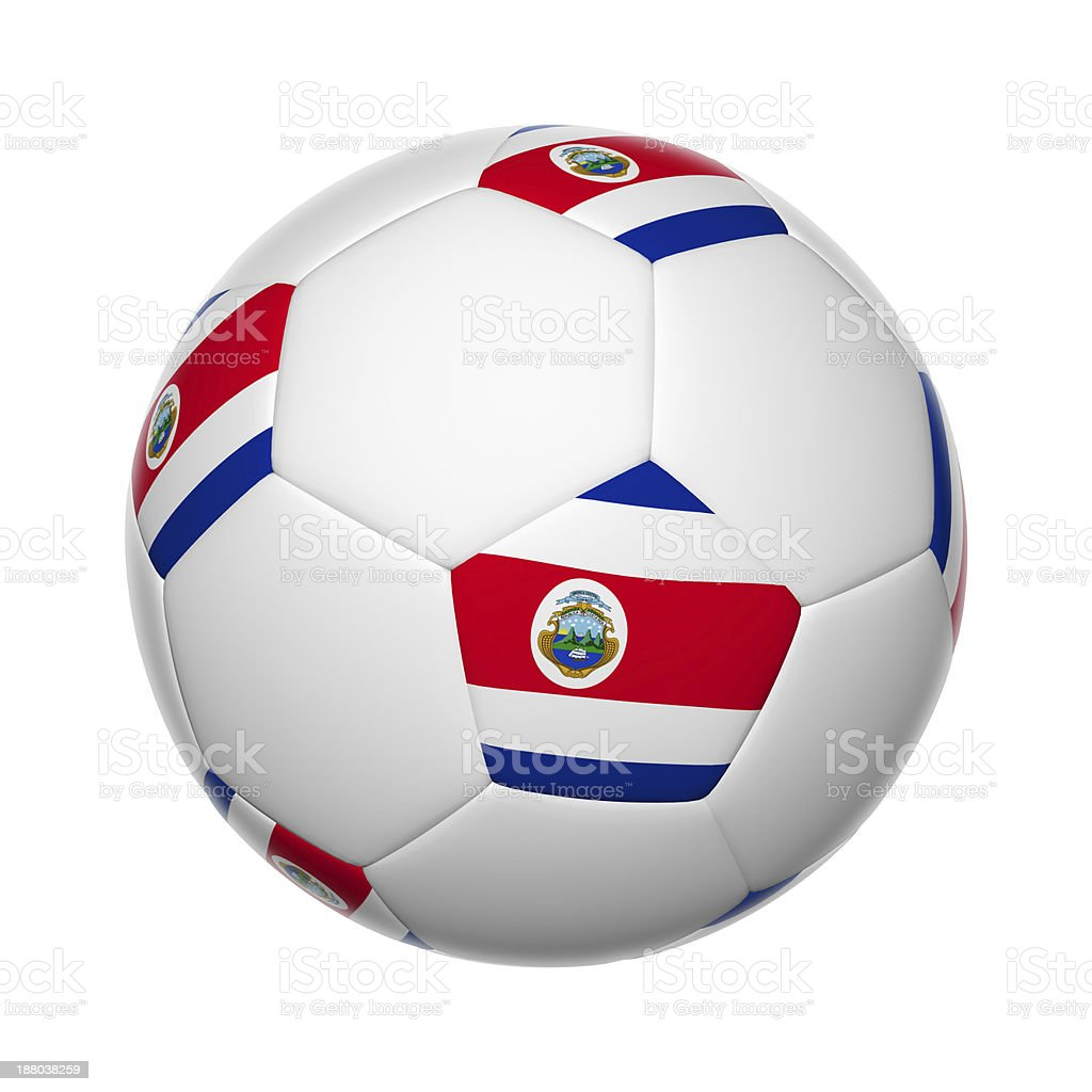Costa Rican soccer ball stock photo