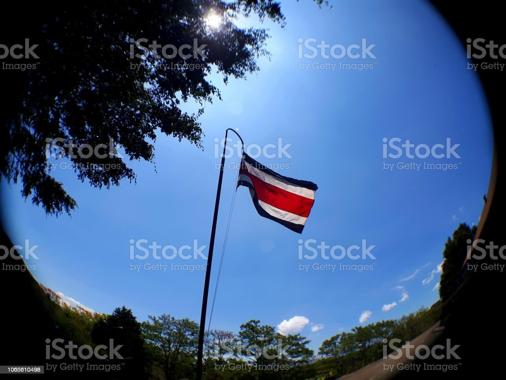 Costa Ricas Flag Stock Photo More Pictures Of Backgrounds