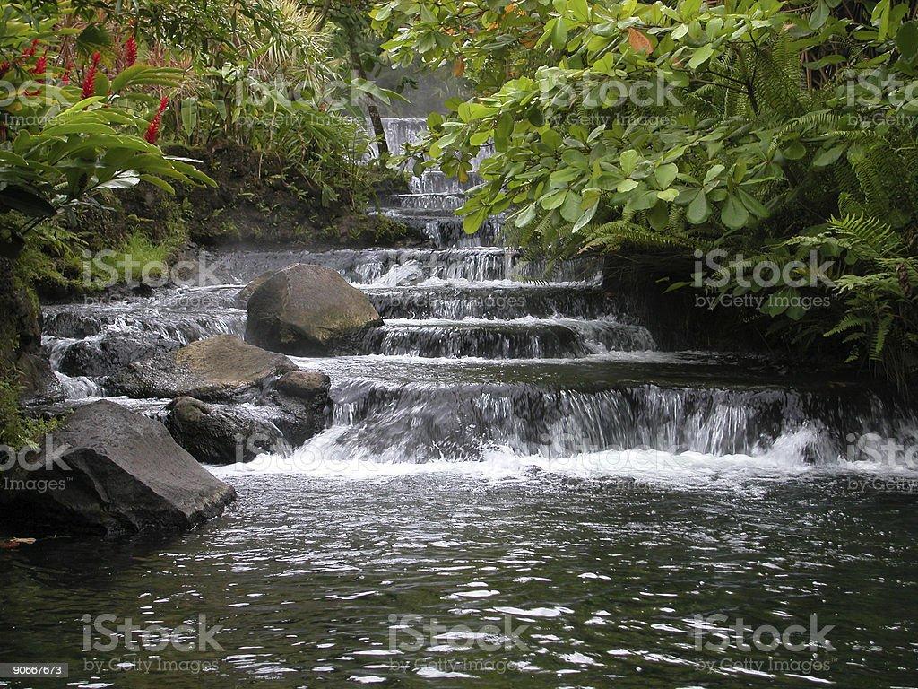 Costa Rico waterfall 2 royalty-free stock photo