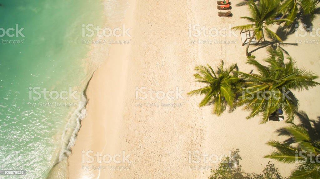 Costa Romantica beach stock photo