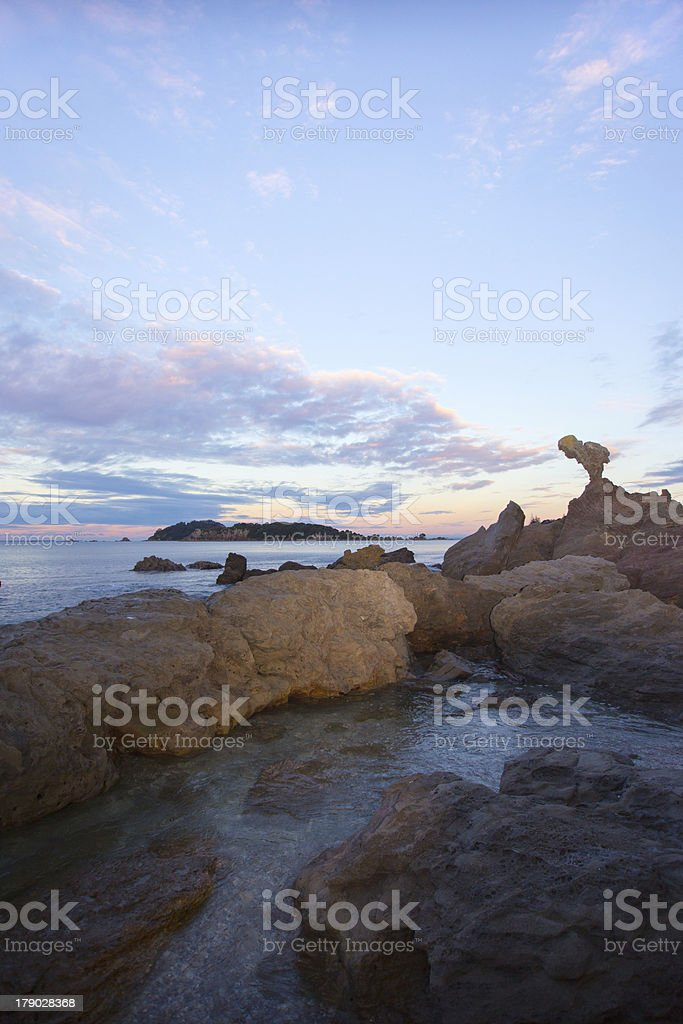 Costal Sunset royalty-free stock photo