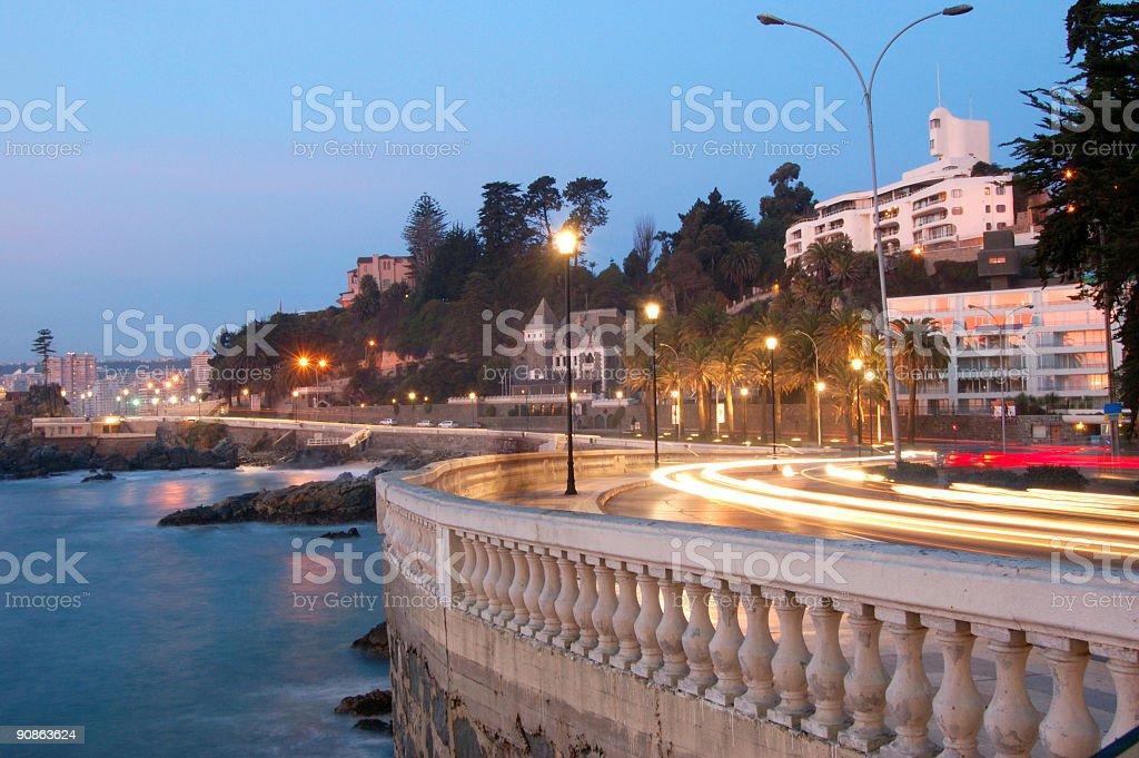 Costanera, Viña del Mar stock photo