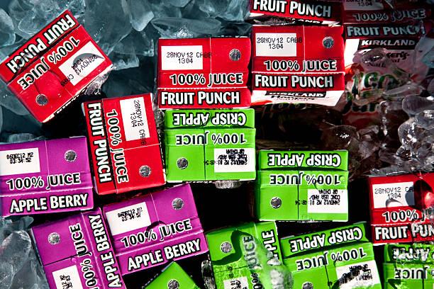 Costco Kirkland boîtes à jus de fruits - Photo