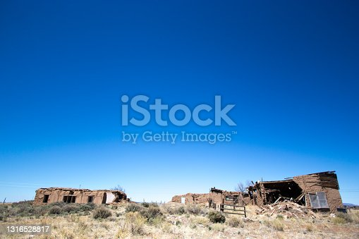 Costillo, NM: Abandoned Ruined Adobe Houses Ghost Town