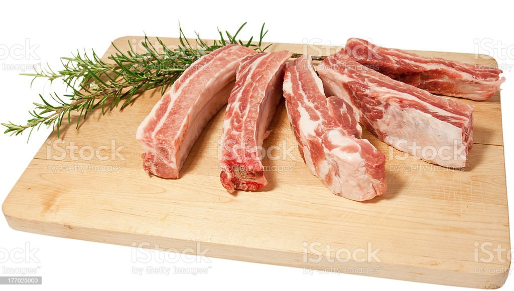 Costine di maiale. Pork meat royalty-free stock photo