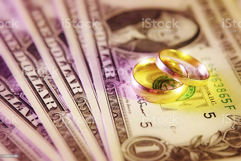 Costs of Marriage stock photo