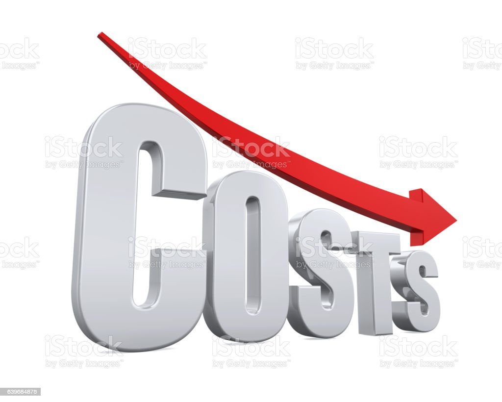 Costs Reduction Concept stock photo