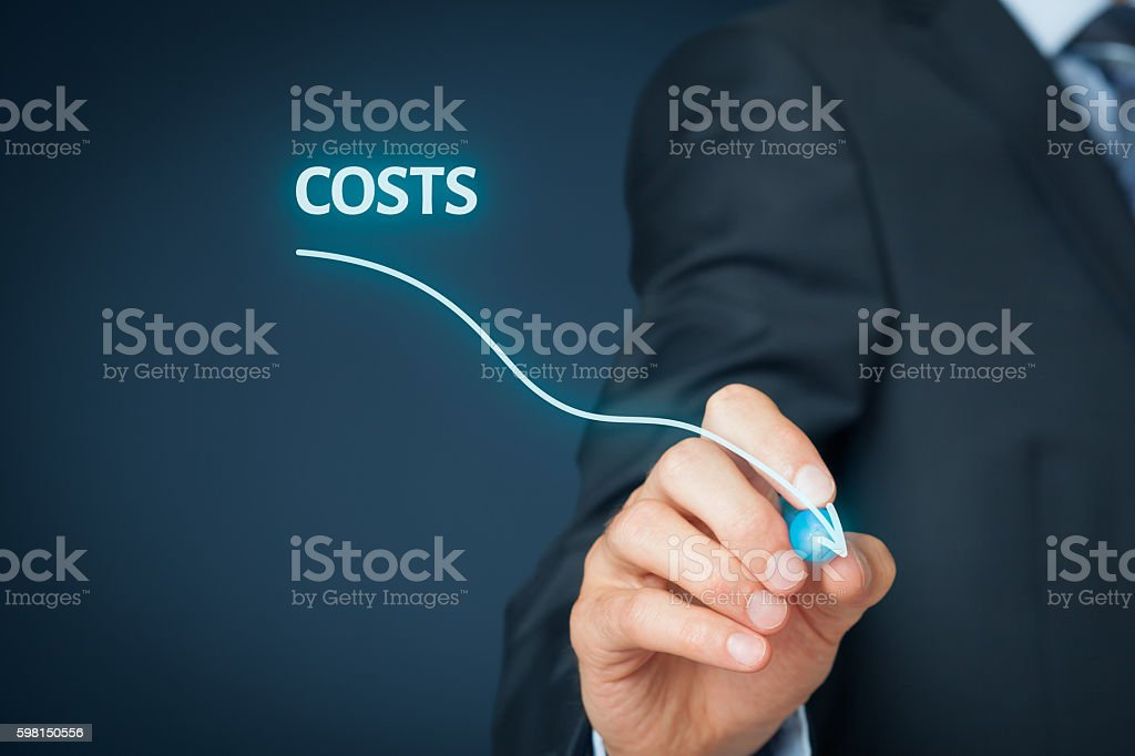 Costs reduction stock photo