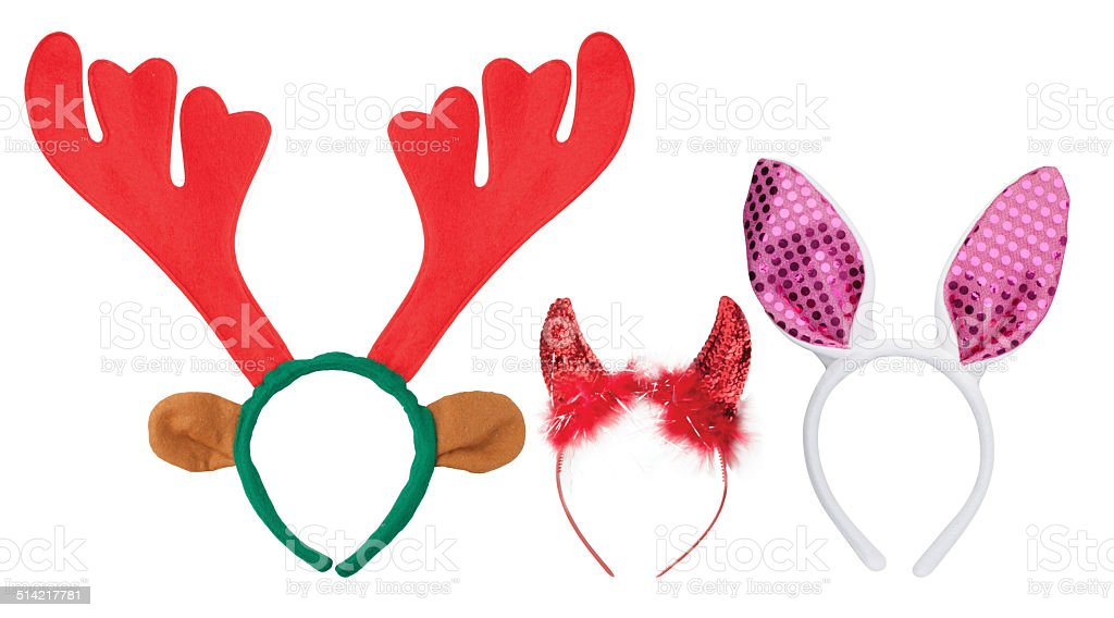 Costume headbands. stock photo