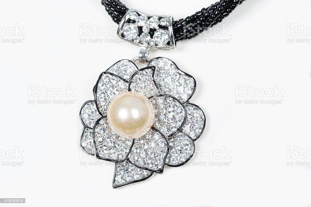 costume jewelry shaped like a flower stock photo