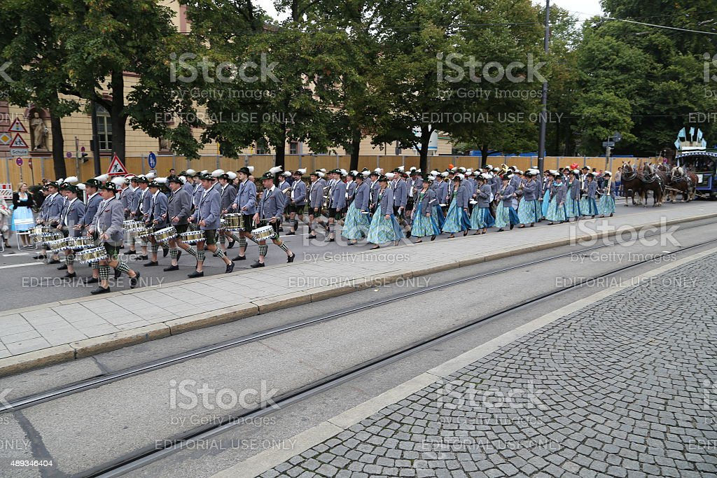Trachtenumzug Oktoberfest 2015 stock photo
