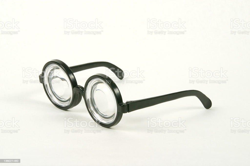 Costume Pop Bottle Glasses - Side royalty-free stock photo