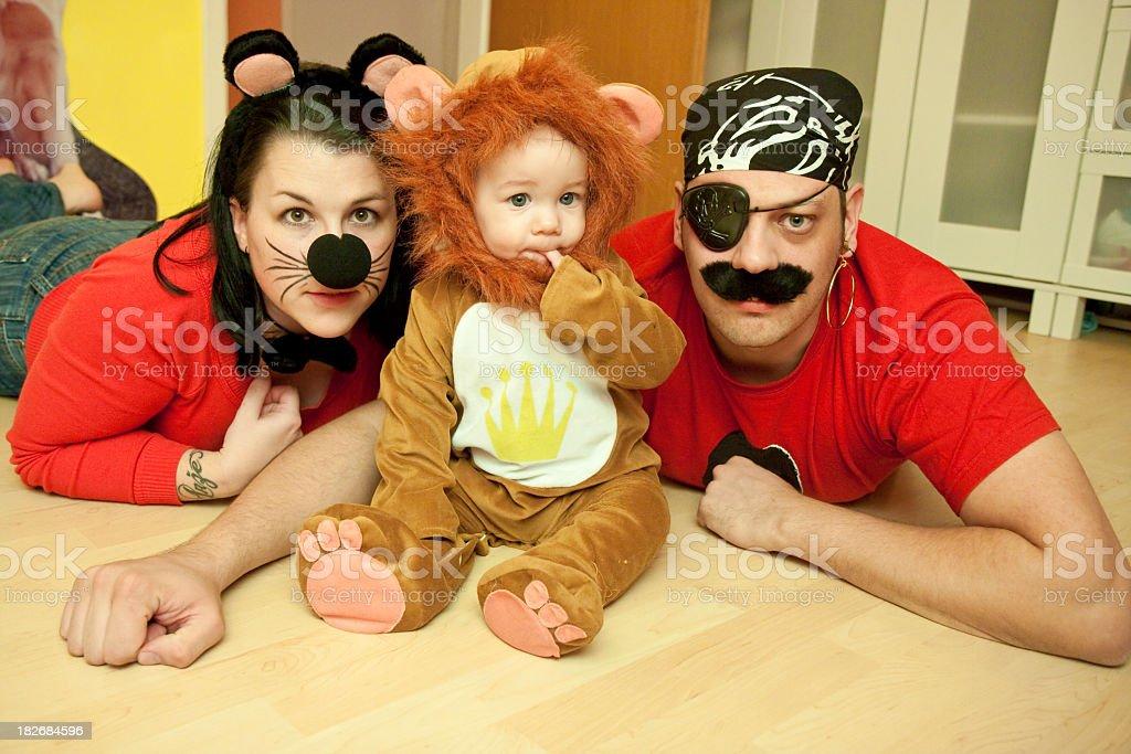 Costumed family stock photo