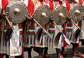 Costumes at a Moors and Christians Parade, Spain